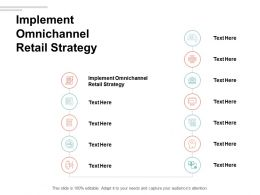 Implement Omnichannel Retail Strategy Ppt Powerpoint Presentation Infographics Topics Cpb