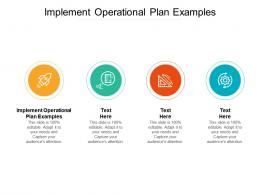 Implement Operational Plan Examples Ppt Powerpoint Presentation Portfolio Outfit Cpb