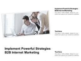 Implement Powerful Strategies B2b Internet Marketing Ppt Portfolio Maker Cpb