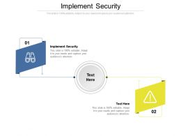 Implement Security Ppt Powerpoint Presentation File Design Ideas Cpb