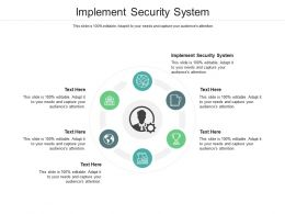 Implement Security System Ppt Powerpoint Presentation Gallery Inspiration Cpb