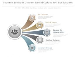 Implement Service Bill Customer Satisfied Customer Ppt Slide Templates