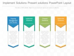 Implement Solutions Present Solutions Powerpoint Layout