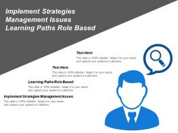 Implement Strategies Management Issues Learning Paths Role Based