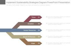 Implement Sustainability Strategies Diagram Powerpoint Presentation