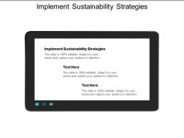 Implement Sustainability Strategies Ppt Powerpoint Presentation Infographics Slide Download Cpb
