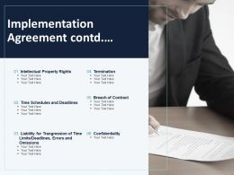 Implementation Agreement Contd Ppt Powerpoint Presentation Infographics