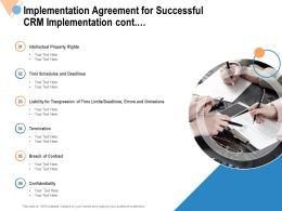 Implementation Agreement For Successful CRM Implementation Cont Ppt Powerpoint File Files