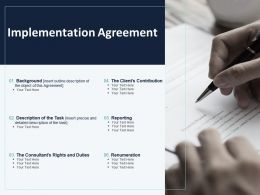 Implementation Agreement Ppt Powerpoint Presentation Slides Shapes