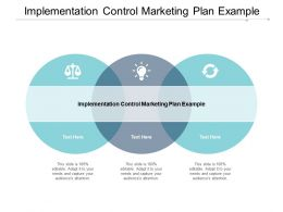 Implementation Control Marketing Plan Example Ppt Powerpoint Presentation Slides Good Cpb