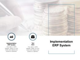 Implementation ERP System Ppt Powerpoint Presentation Icon Portrait Cpb