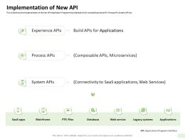 Implementation Of New API Applications Ppt Powerpoint Presentation Themes