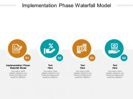 Implementation Phase Waterfall Model Ppt Powerpoint Presentation Ideas Graphics Cpb