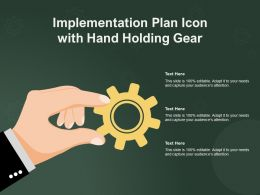 Implementation Plan Icon With Hand Holding Gear