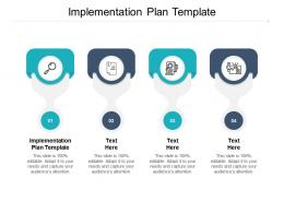Implementation Plan Template Ppt Powerpoint Presentation File Themes Cpb