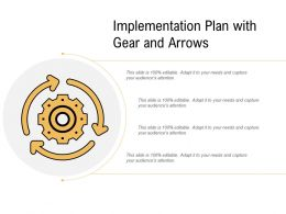 Implementation Plan With Gear And Arrows