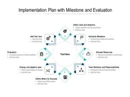 Implementation Plan With Milestone And Evaluation
