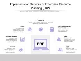 Implementation Services Of Enterprise Resource Planning ERP