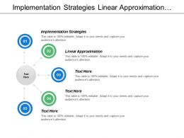 Implementation Strategies Linear Approximation Examples Technologies High Growth