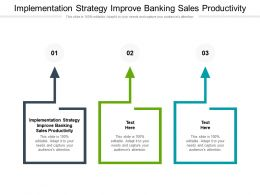 Implementation Strategy Improve Banking Sales Productivity Ppt Powerpoint Presentation Layouts Good Cpb
