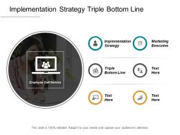 Implementation Strategy Triple Bottom Line Marketing Executive Cpb