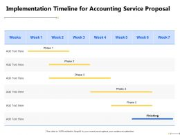 Implementation Timeline For Accounting Service Proposal Finishing Ppt Powerpoint File Show
