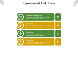 Implemented Help Desk Ppt Powerpoint Presentation Ideas Objects Cpb