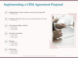 Implementing A CRM Agreement Proposal Reporting Ppt Powerpoint Presentation Gallery