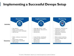 Implementing A Successful Devops Setup Ppt Powerpoint Presentation File Format Ideas