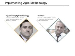 Implementing Agile Methodology Ppt Powerpoint Presentation Inspiration Ideas Cpb