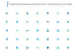 Implementing Balanced Scorecard In Organization Icons Slide Ppt Slides