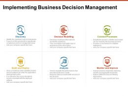 Implementing Business Decision Management Discovery Ppt Powerpoint Presentation Files