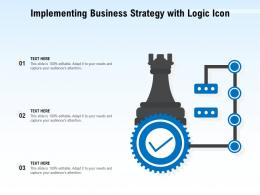 Implementing Business Strategy With Logic Icon
