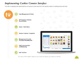 Implementing Cashier Counter Interface Of Locally Ppt Powerpoint Presentation Slides Influencers