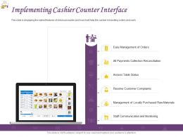 Implementing Cashier Counter Interface Powerpoint Presentation Graphics Tutorials