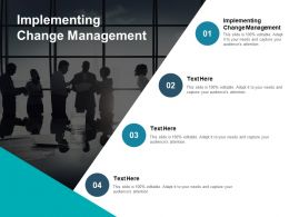 Implementing Change Management Ppt Powerpoint Presentation Pictures Slide Cpb