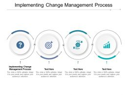 Implementing Change Management Process Ppt Powerpoint Presentation Slides Images Cpb