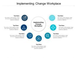 Implementing Change Workplace Ppt Powerpoint Presentation Model Design Ideas Cpb