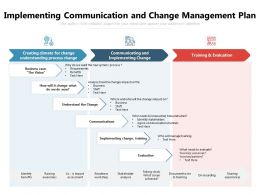 Implementing Communication And Change Management Plan