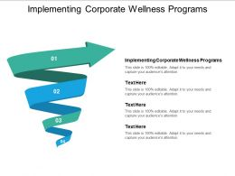 Implementing Corporate Wellness Programs Ppt Powerpoint Presentation Gallery Smartart Cpb
