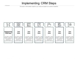 Implementing Crm Steps Ppt Powerpoint Presentation Outline Summary Cpb