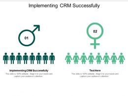 Implementing CRM Successfully Ppt Powerpoint Presentation Inspiration Slide Portrait Cpb