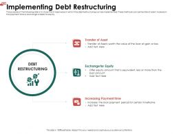 Implementing Debt Restructuring L1931 Ppt Powerpoint Portfolio Guidelines
