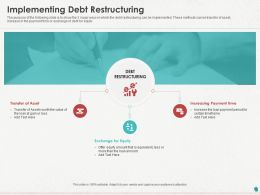 Implementing Debt Restructuring Ppt Powerpoint Presentation Gallery Example Introduction