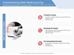 Implementing Debt Restructuring Ppt Powerpoint Presentation Outline Graphics