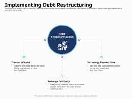 Implementing Debt Restructuring Time Ppt Infographics Graphic Tips