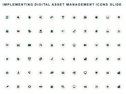 Implementing Digital Asset Management Icons Slide Ppt Powerpoint Presentation Outline Introduction