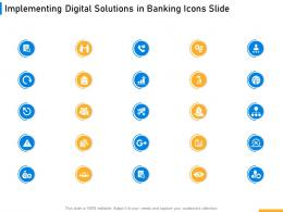 Implementing Digital Solutions In Banking Icons Slide Ppt Designs