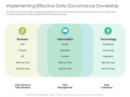 Implementing Effective Data Governance Ownership