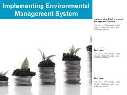 Implementing Environmental Management System Ppt Powerpoint Presentation Portfolio Cpb